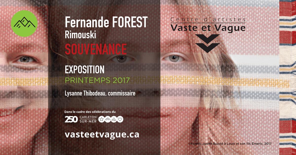 Fernande FOREST | SOUVENANCE | Installation photographique
