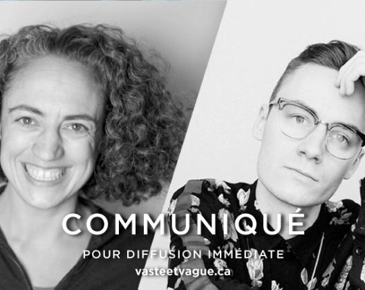 COMMUNIQUÉ : Deux artistes gaspésiens sélectionnés pour une première exposition solo au Centre d'artistes Vaste et Vague