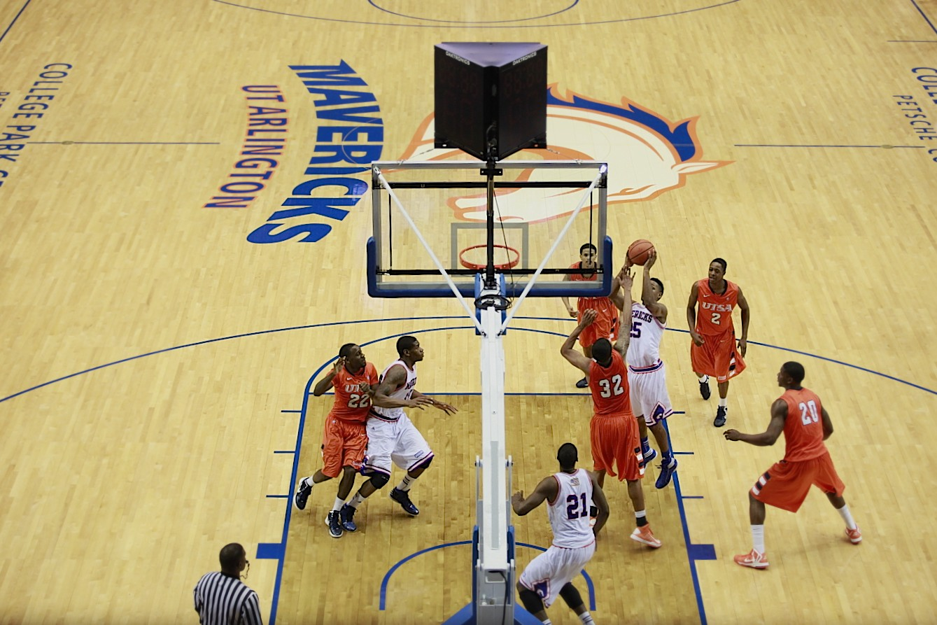 I was privileged to be able to shoot University of Texas at Arlington Mavericks men's basketball games at their College Park Center.