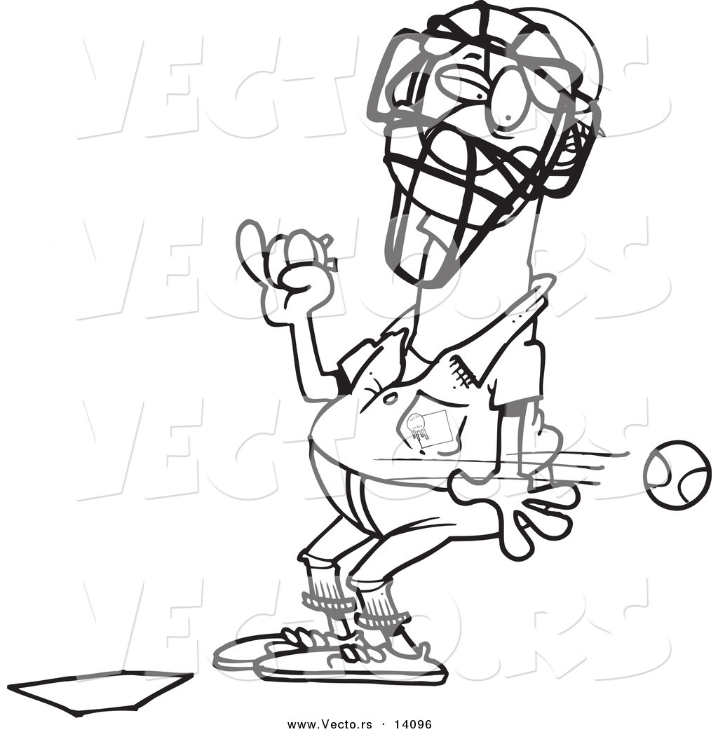 umpire coloring pages - photo#11
