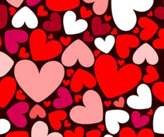 Seamless Heart pattern for Valentine Card