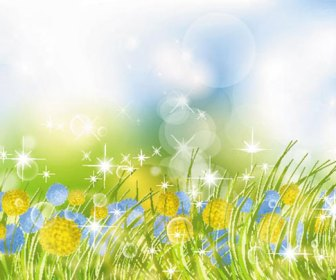 Beautiful Flower Garden Vector Background
