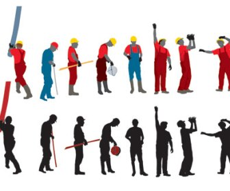 Free Vector Stock Worker Illustration