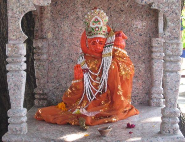 Hanuman, Mahavira, Bajarangi, kleiner Tempel