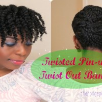 Twisted Pin Up, Twist Out Bangs
