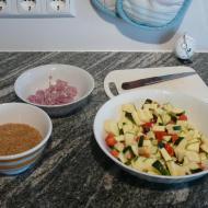 Reissuppe mit Zucchini