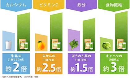 Natural Healthy Standardミネラル葉酸グリーンスムージー 口コミ
