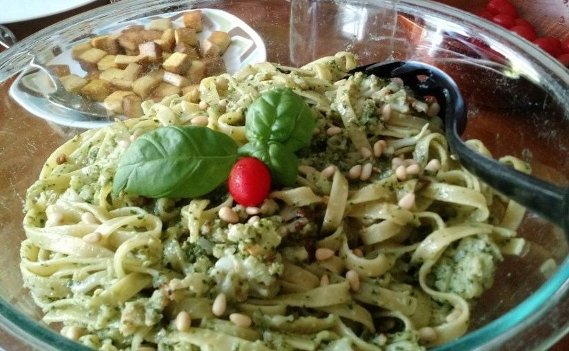 Isa Does It:  Pesto-Cauliflower Pasta