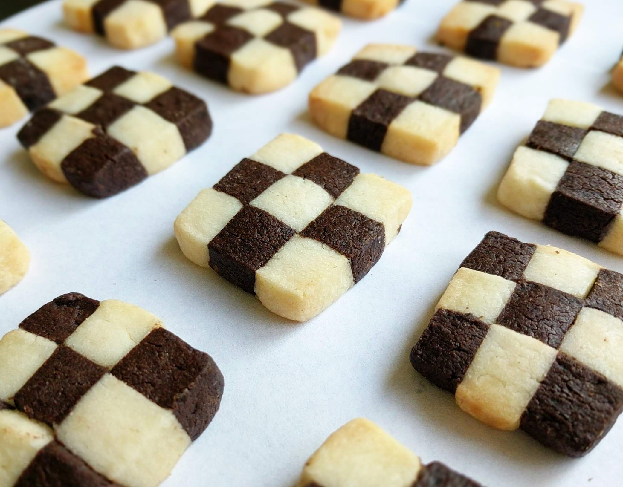 Black and White Checkerboard Cookies