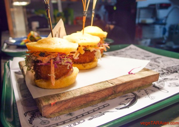 Mac and cheese sliders at Miss Peaches, Newtown