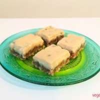 Vegan passionfruit slice