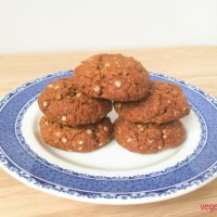 Gluten free, vegan lemon and quinoa ANZAC biscuits
