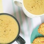 Potato leek coconut soup
