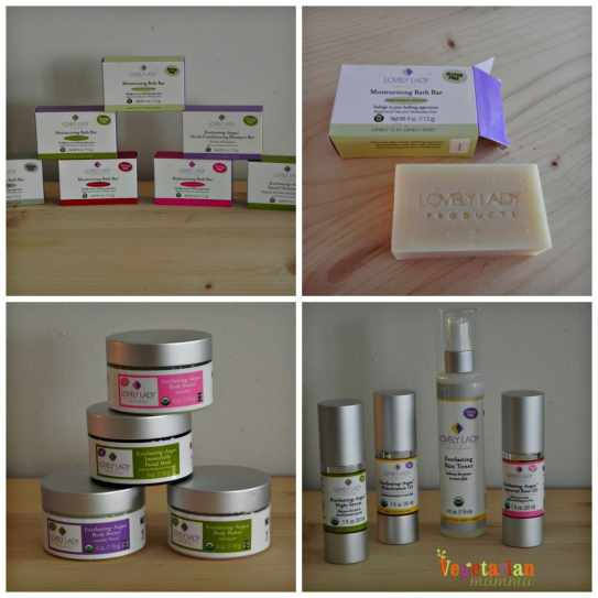 Lovely Lady Review Collage of Products vegetarianmamma.com