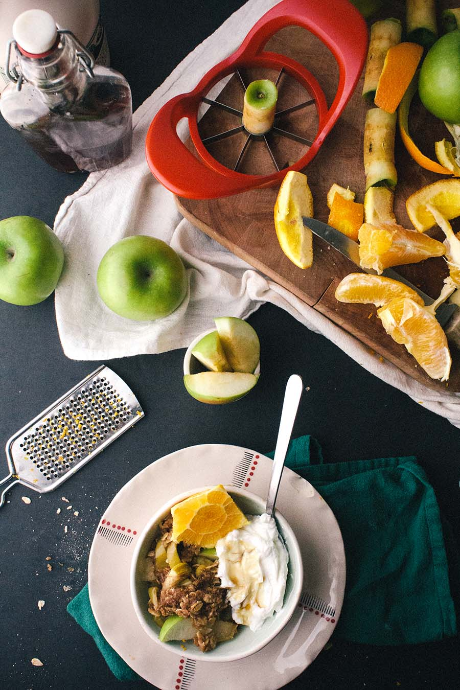 Chai-Spiced Citrus & Apple Breakfast Crumble