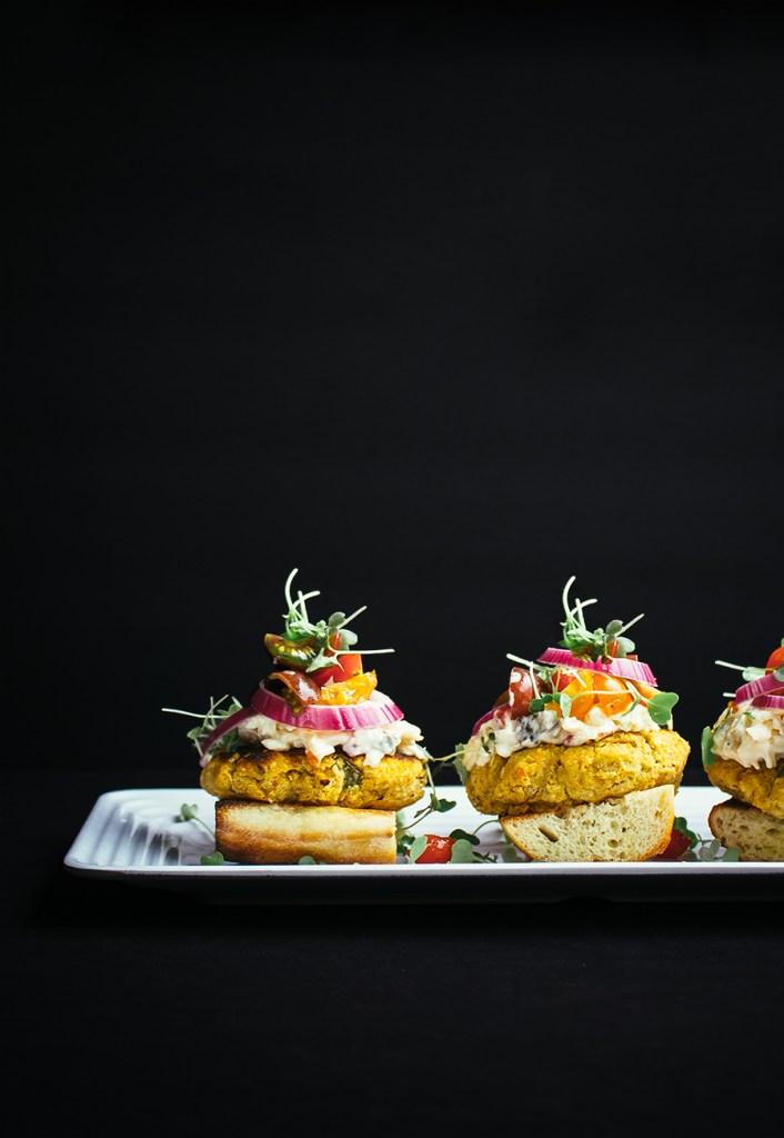 Farmer's Garden Stuffed Pimiento Cheese Veggie Burgers