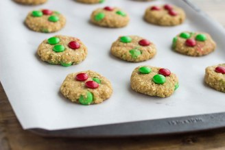 Gluten Free Almond Coconut M&M Cookies | Veggie and the Beast
