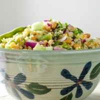 3 Bean Quinoa Salad with lime dressing