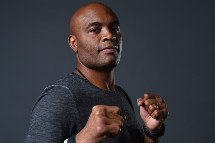 LAS VEGAS, NV - JULY 08:   Anderson Silva poses for a portrait backstage during the UFC 200 weigh-in at T-Mobile Arena on July 8, 2016 in Las Vegas, Nevada. (Photo by Mike Roach/Zuffa LLC/Zuffa LLC via Getty Images)