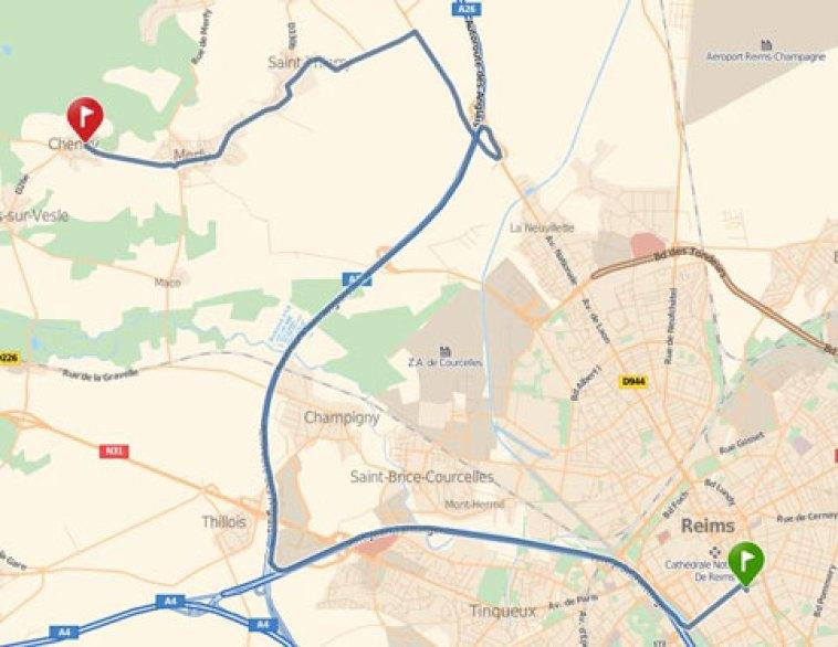 Itinéraire-Reims-Chenay