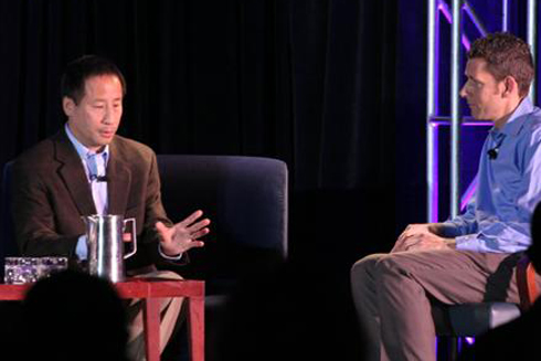 Edward Lu of Google in a fireside chat with Matt Marshall at GreenBeat 2009