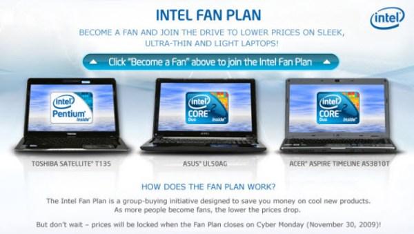 intel facebook fan plan