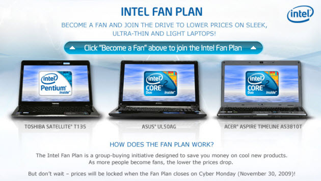 intel facebook fan plan