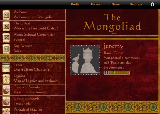 mongoliad screenshot