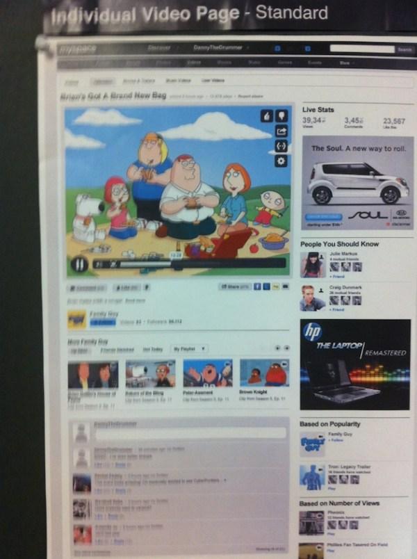 myspace video page