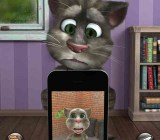 Talking Tom 2 sees himself on screen