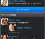 BlackBerry Music social