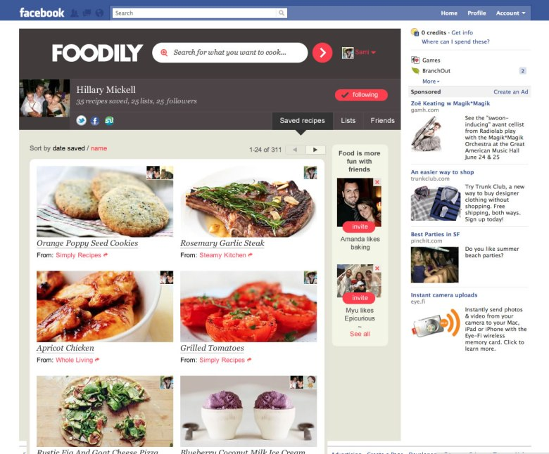 Foodily profile screenshot