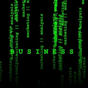 Abstract Matrix-like image with the word BUSINESS