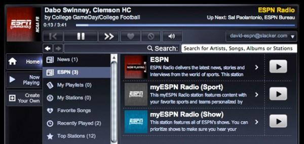 ESPN-Slacker-team-up
