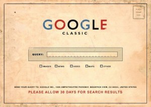Google classic postcard image