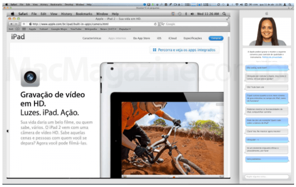 Apple store screen sharing feature