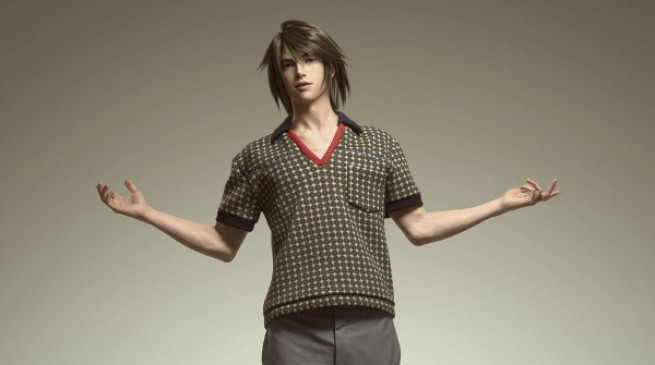 Final Fantasy XIII-2 Prada fashion showcase Arena Homme+