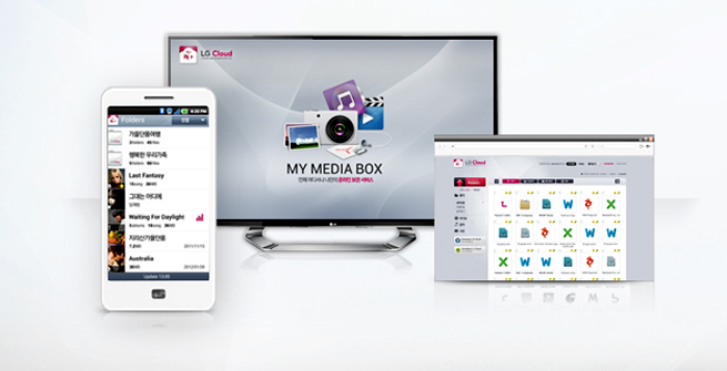 LG Cloud on mobile, web TV