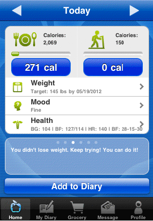 NeedToEat diet iPhone App
