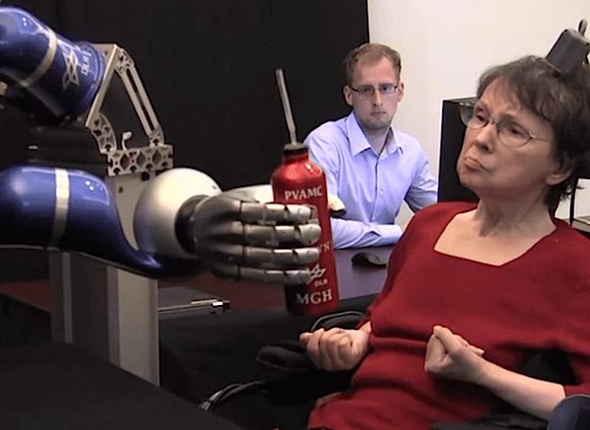 BrainGate robotic arm