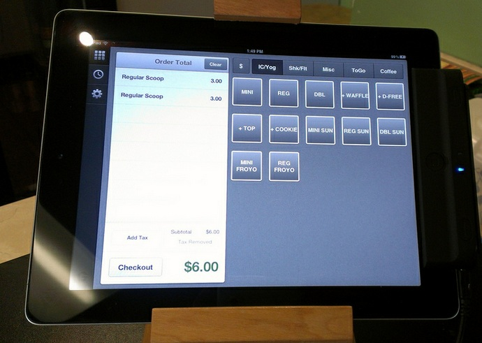 Groupon POS screen