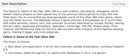 Fallout 3 (Walmart.com)