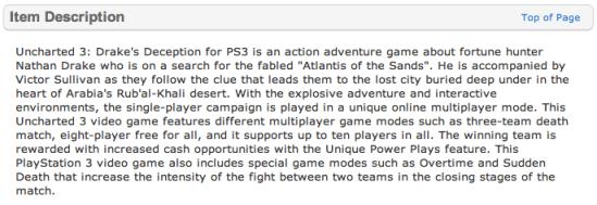 Uncharted 3 (Walmart.com)