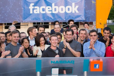 zuckerberg facebook nasdaq bell official