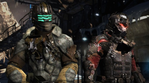 Dead Space 3's Isaac Clarke and John Carver