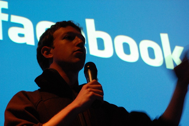 Mark Zuckerberg, looking ominous and gloomy