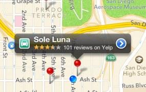 yelp apple maps