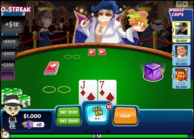 Zynga's social poker game.
