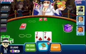 Zynga's social poker game.