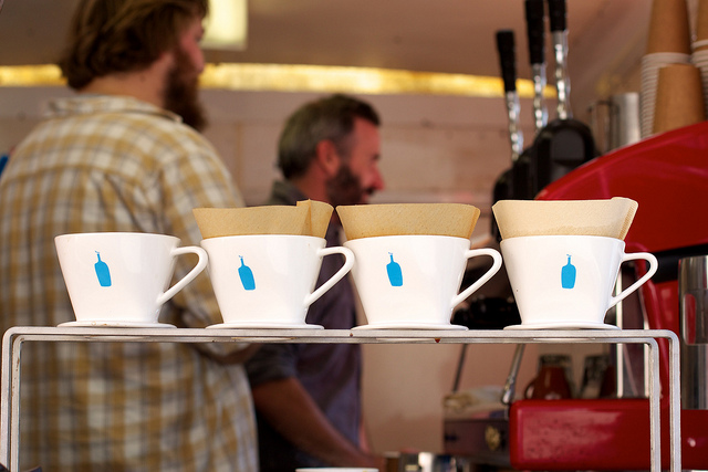 Pour-overs and beards. There is a hipster joke to be made here.